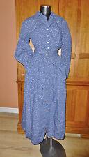 vtg RALPH LAUREN Country Navy Cotton Print Prairie 2pc dress BLOUSE SKIRT SET