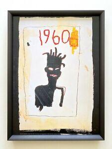 "JEAN MICHEL BASQUIAT ESTATE RARE FRAMED LITHOGRAPH PRINT "" SELF PORTRAIT "" 1983"
