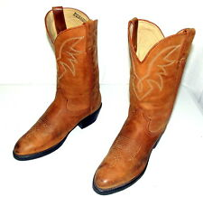 Mens 8 D Cowboy Boots Durango Tan Brown Leather Shoes Western Country Urban VTG