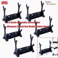 5PCS 1/6 Soldier Weapons/Sword/Gun Model Display Stand Model Fit 12''Body Figure
