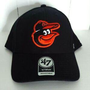 Baltimore Orioles '47 Brand MVP Adjustable Strapback Black Cap Bird Logo MLB New