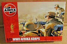 AIRFIX WW2 GERMAN AFRIKA KORPS 1:72 SCALE MODEL SOLDIERS UNPAINTED PLASTIC