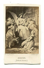 MIGNON PAINTING BY KAULBACH ENGRAVED BY RAAB, ALBUMEN OF ARTWORK.
