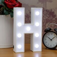 Light Up Letter H - White Marquee Letters 23cm LED Wooden Letter Lights Sign A-Z