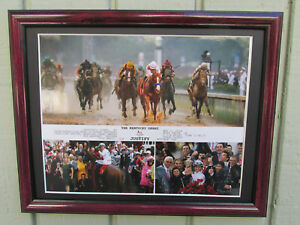 JUSTIFY KENTUCKY DERBY 2018 FRAMED COMPOSITE PHOTO 10 X 8