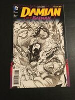 Damian Son of Batman #3 Sketch B&W Variant #3C DC Comics 2014 Andy Kubert
