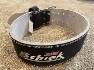 Schiek Sports Model 7010 Lever Competition Power Weight Lifting Belt - Black Med