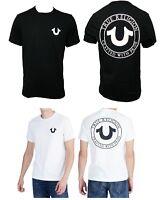 True Religion Brand Jeans Men's Black White Crafted Big Horseshoe Tee T- Shirt