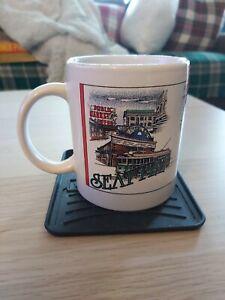 Used White SEATTLE Cityscape Coffee Mug c. 1970s. 300 mL