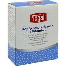 TOGAL Kopfschmerz-Brause + Vit. C Brausetabletten 20 St PZN 3822501