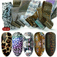 10 Pcs Holographic Starry Sky Nail Foil Manicure Nail Art Transfer Sticker Tips