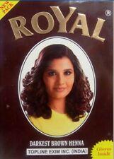 Royal Darkest Brown Hair Henna Mehendi Powder Hair Dye Hair 6 x 10 g sachet
