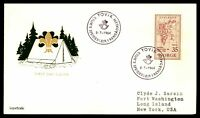 NORWAY TOVIK INTL GEOPHYSICAL YEAR 35 ISSUE FDC 1964 SCOUT CAMP CACHET