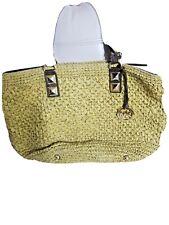 Michael Kors  Bag XL Santorini Straw Tote Bag Beach Travel 11×18! Rare!