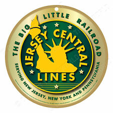 Jersey Central Lines-Green Logo Wood Plaque-Sign / Man Cave / Train & Kids Room