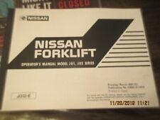 FACTORY 1998 Nissan Forklift Model J01 J02 Series Service Shop Operator's Manual