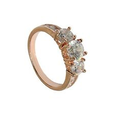 GirlZ! Fashion Rose Gold Plated Pretty Crystal Ring