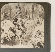 Fairy Land in Winter Victoria Park Niagara Falls NY White Stereoview 1901