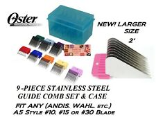 New listing Oster 9 Stainless Steel Blade Attachment Comb Set*Fit Andis Agc,Wahl Km Clippers