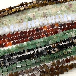 Amazonite Africa Jade Agate Jasper Pietersit Fluorite Aventurine  star beads 8mm