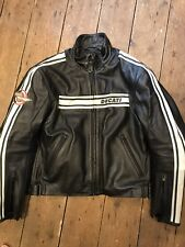 Ducati Performance Leather Jacket By Dainese Size Euro 54