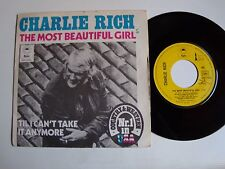 """CHARLIE RICH : The most beautiful girl / can't take anymore 7"""" French EPC 2022"""