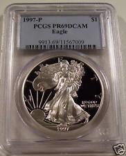 1997-P PROOF SILVER EAGLE PCGS PR69DCAM KEY DATE