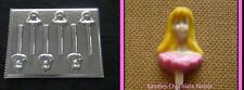 BARBIE DOLL Princess Face Head Lollipop Chocolate Soap Candy Lollipop Mold