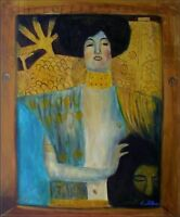 Hand Painted Oil Painting Repro Gustav Klimt  Judith and Holofernes 20x24in