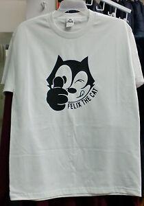 CARTOON FELIX THE CAT WHITE T-SHIRT