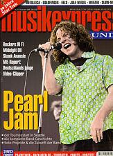PEARL JAM-Titelstory Musikexpress SOUNDS #11, Nov. 1996 • w/ FREE rare P.J.-CD!
