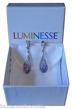 Swarovski Prizma Purple Crystal Drop Earrings