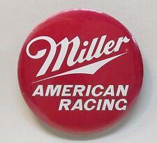 "1985 Miller American Racing large 3"" hydroplane pinback button Beer"