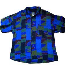 VTG BAIK BAIK HAWAIIAN SHIRT Abstract 80s 90s Aloha 100% Rayon Button Up Mens, M