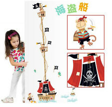 Pirate Ship Height Room Decor Removable Wall Sticker Decal Decoration Wandtattoo