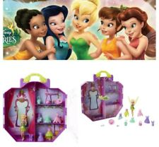 Disney Tinkerbell Fairie Tinks Pixie Penderie Vêtements Chaussures Carry Case Play Set