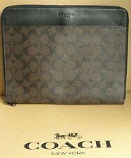 (NEW)Men's COACH Tech Case Signature Canvas Mahogany/Brown F32654