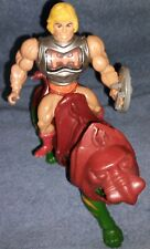 Vintage Masters Of The Universe He Man battle damage And Battlecat  *RARE
