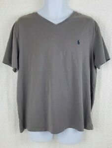 Polo Ralph Lauren T Shirt Gray XL Vneck Authentic Polo Tee