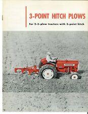 Ih International 3 Point Hitch Plows 2 3 Plow Tractors Brochure Farmall 3pt
