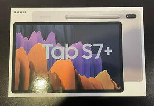 "Samsung Galaxy Tab S7+ Plus 256GB Wi-Fi 12.4"" Mystic Silver Android SPen SM-T970"