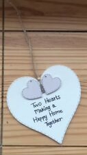 Personalised Wooden Heart Sign New Home