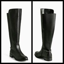 NIB Torrid Size 7W Black Metal Back Tall Boots (Wide Width & Wide Calf) #61
