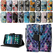 """For Nokia 3.1 Plus 2019 6"""" Cricket Version Wallet Kickstand Cover Pouch Case"""