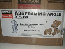 "Simpson Strong Tie (100) A35 4 1/2"" 6 Way Framing Angle ""NEW"" Galvanized"