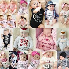 Cute Newborn Baby Boy Girls Cotton Romper TOPS Jumpsuit Bodysuit Clothes Outfits