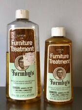 2 x Vintage 1980 Formby's Lemon Oil Furniture Treatment 8+16 fl oz Discontinued