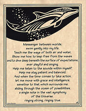 DOLPHIN Prayer Ocean Shaman Animal Spirit Poster Page Art Celtic Wicca