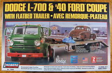 Lindberg 1/25 Scale Dodge L-700 with Flatbed Trailer and 40 Ford Coupe Model Kit
