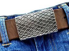 Gürtelschnalle Rechteck eckig unisex 4cm Gürtelschließe buckle silber
